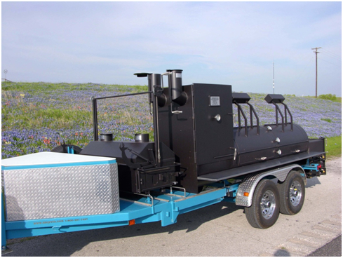 30x8 Blue mobile smoker