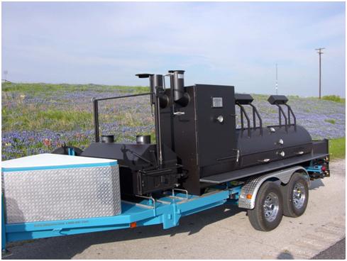 30x8 Blue mobile smoker
