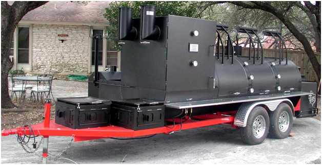 Texas Mobile barbecue smoker