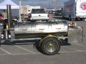 Texas BBQ smoker, BBQ Pits, Mobile BBQ smoker, Barbecue trailer, Stainless steel smoker