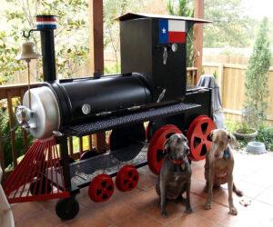 Texas bbq pit, texas bbq smoker. David Klose smoker, BBQ pit by Klose