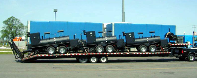 BBQ pit delivery, shipping, Mobile barbecue ,bbq trailer