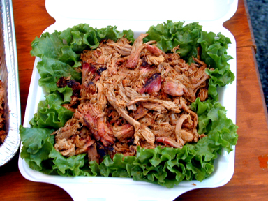 Pulled Pork, competition turn in box