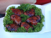 Barbecued Chicken, Competition turn in box