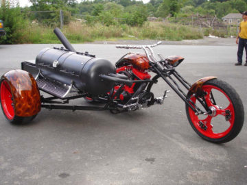 Orange County Chopper with Klose sidecar BBQ